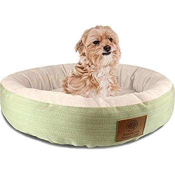 Amazon.com : AKC Casablanca Round Solid Pet Bed : Dog Bed