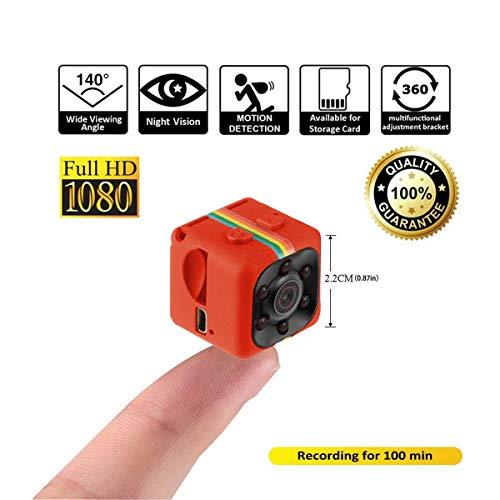 Crazepony Mini Camera SQ11 HD Camcorder 3.6mm Night Vision FOV140 1080P Sports Mini DV Video Recorder (Plastic Sheel)