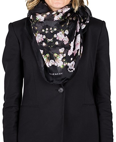 Givenchy Women's Floral Pattern Silk Scarf by Givenchy