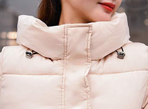 Blouson Capuche Femme Ghope du Longue Hiver Chaud Genou Fourrure Jacket Longueur avec Parka Kahki Manteaux Manteau wOOqp