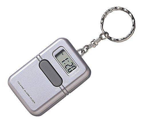LS&S Talking Clock Keychain (Alarm Clock Keychain)