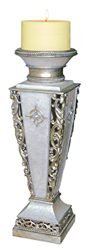 """OK Lighting Pearl Small Floor Candle Holder, 23.0"""""""