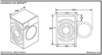 Siemens iQ500 WM14T46XES Independiente Carga frontal 9kg 1400RPM A ...