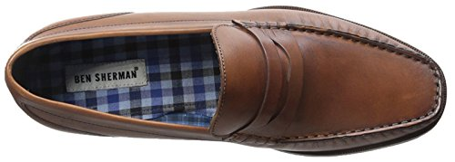 Ben Sherman Mens Willis Casual Penny Mocassino Cuoio