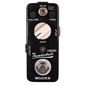 Mooer Baby Tuner Pedale Accordatore Cromatico – Thunderball Bass Distortion Fuzz