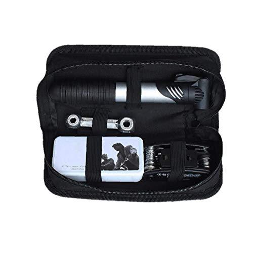 Bicycle Repair Bag Set Bike Repair Tools 13 in 1 Kits Bike Maintenance Fix Tools with Saddle Bag Mini Pump Tire Inflator…