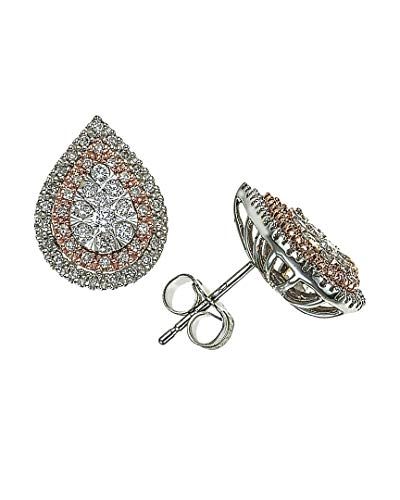 Diamond 1/2ct Pear Earrings in 14K Rose/White Gold ()