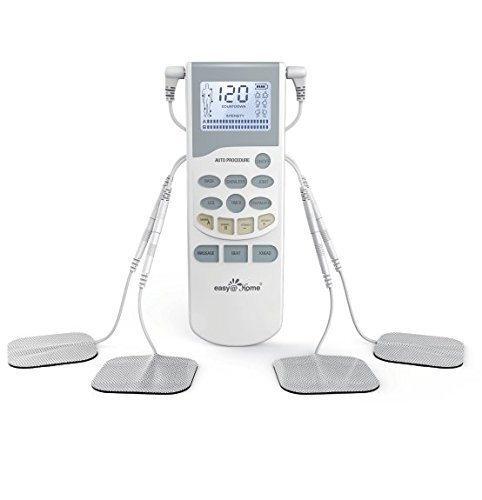 TENS Unit Muscle Stimulator – Easy@Home Electronic Pulse Massager – FDA approved for OTC Use handheld Pain Relief therapy Device – Pain Management on the Shoulder, Joint, Back, Leg&more