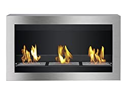 Ignis Ventless Bio Ethanol Fireplace Magnum with Safety Glass