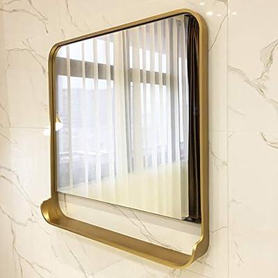 Espejo Cuadrado Dorado Almacenamiento, tocador para tocador Pared con Estante 60 cm / 70 cm / 80 cm HD: Amazon.es: Hogar