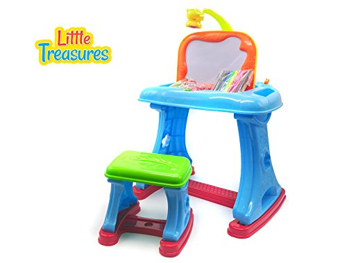 Little Treasures Projector Learning Desk with Easel Style...