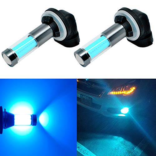 Alla Lighting 881 889 LED Fog Light Bulbs Xtreme Super Bright 889 881 LED Bulb COB-SMD 8000K Ice Blue Cars Trucks SUV LED 889 881 Fog Lights Bulbs Replacement 862 886 894 896 898