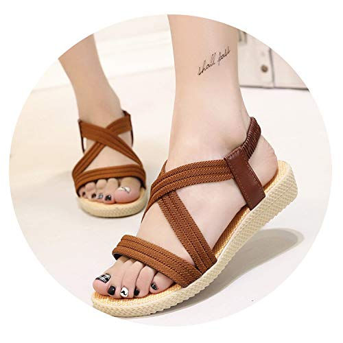 Bohemia Comfortable Ladies Shoes Beach Gladiator Sandal Flat