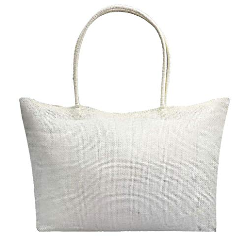 Shoulder Candy Beach White Simple Color Bags Bag Casual White Women Kanpola Large Straw 6gBCqx