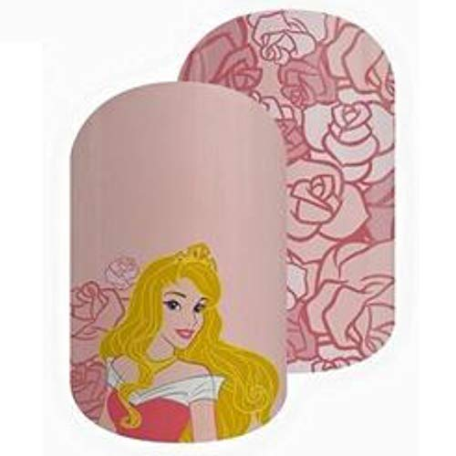 Jamberry Nail Wraps - Make It Pink - Full Sheet - Disney Collection Sleeping Beauty (Beauty Decal Sleeping)