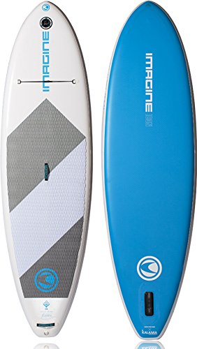 - Imagine Surf Touring High Pressure Inflatable Stand Up Paddleboard Compressor/Icon XLT SUP Board Package with Pump and Deluxe Bag with Repair Kit, 10-Feet 2-Inch/Medium, White