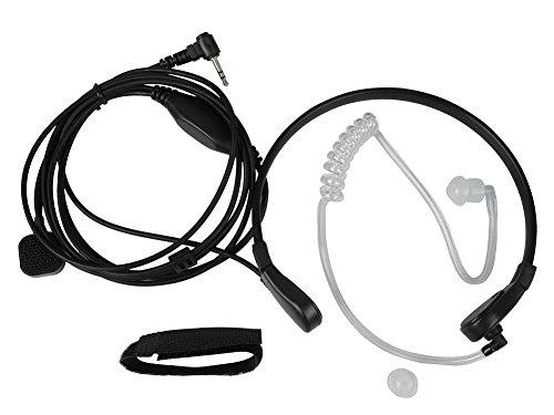KENMAX Throat Mic Air Tube Earpiece Headset New Black for Two Way Radio Walkie Talkie Motorola T5700, T5720, T5800, T5820, T5920, ()