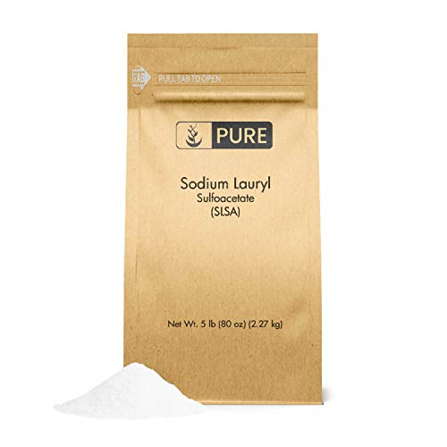 Sodium Lauryl Sulfoacetate (SLSA) (5 lb.) by Pure Organic Ingredients, Eco-Friendly Packaging, Ideal Bath Bomb Additive, Gentle on Skin, Surfactant & Latherer