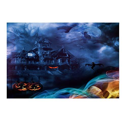 Willsa Halloween Backdrops 5x3FT Lantern Background Photography Studio Decoration]()