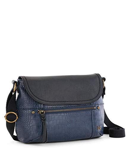 The Sak Katniss Embossed Flap Cross-Body Bag (Croco)