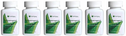 Super-Absorption Cycloastragenol 98% (25mg/cap, 360 Caps in 6 Bottles) by Crackaging