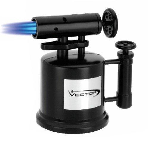 Vector Tri Pump Table Top Cigar Torch Lighter Black TRIPUMP