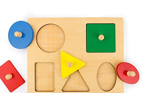 YChoice Educational Puzzle Kids Creative Wooden Educational Puzzle Early Learning Shapes Color Toy Fantastic Gifts Kids(Circle)