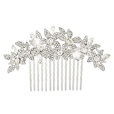 EVER FAITH® Wedding Cluster Flower Hair Comb Clear Austrian Crystal