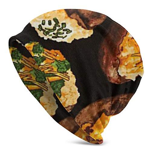 CuiHATIO Got The Munchies Loaded Potatoes Men's Slouchy Beanie Summer Thin Skull Cap Baggy Oversize Knit Hat