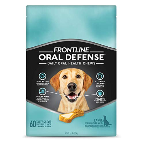 Frontline Oral Defense Daily Dental Chews for Large Dogs (50+ lb) 60-CT