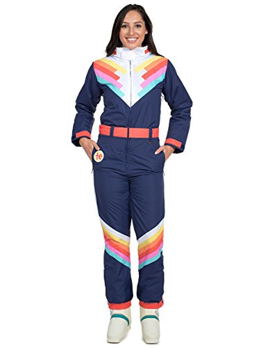Tipsy Elves Women's Santa Fe Shredder Ski Suit: X-Large Blue -