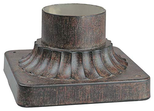 Minka Lavery Minka 7930-357 Traditional Pier Mounts and Posts Iron Oxide Collection in Bronze/Darkfinish, 5.75 inches, Upc-747396041209 357 Minka Lavery Outdoor Post