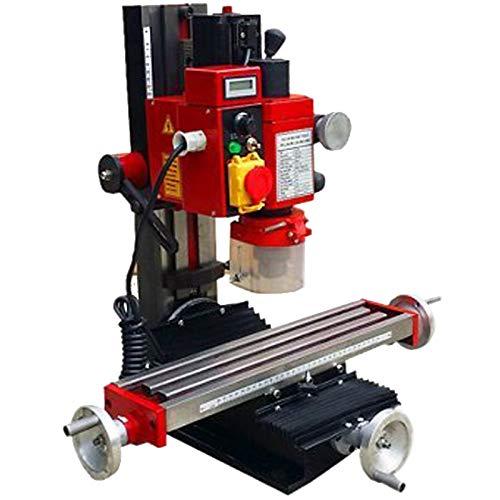 Mophorn Mini Milling Machine 2500PRM 550W Variable Speed Milling Drilling Machine Digital Display Adjustable Stops Gear Drive Motor Micro Milling Drilling Machine (550W 2500PRM Machine) (Best Micro Milling Machine)