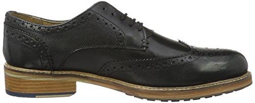Ben Sherman Patrick B, Zapatos de Cordones Brogue para Hombre Black (Cow Burnish Black)