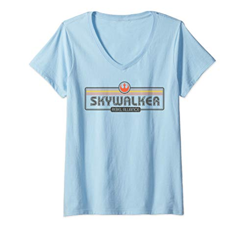 Womens Star Wars Skywalker Rebel Alliance Logo Bold V-Neck T-Shirt