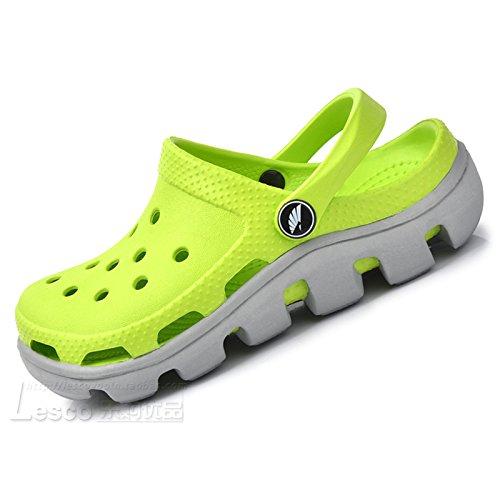 Xing Lin Sandalias De Cuero El Nuevo Calzado De Playa Hoyo Hoyo Par Estudiante Zapatos Zapatos De Hombre Verano Gran Código Anti-Deslizamiento Baotou Gruesas Sandalias Zapatillas, 43 = La Longitud De