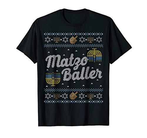 Funny Ugly Hanukkah Sweater Shirt, Matzo Baller Matzah Balls ()