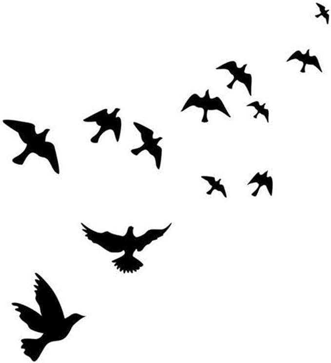 CAODANDE Etiqueta Engomada Hermosa De La Decoración del Hogar De La Etiqueta Engomada del Pájaro De La Pared Etiqueta De La Pared Calcomanía Decoración Socket Pasta Mural: Amazon.es: Hogar