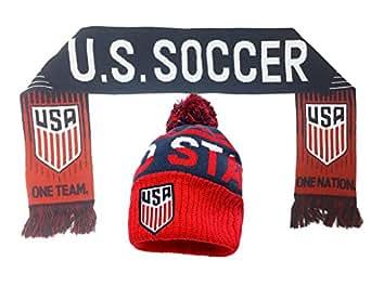 1442b4cf8592b USA Soccer Beanie and Scarf Gift Set