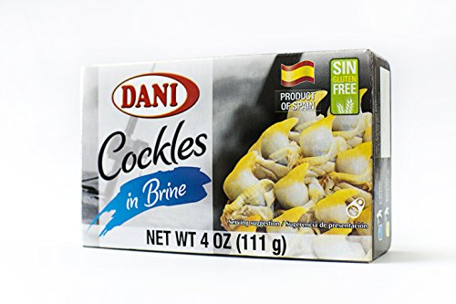 Dani Cockles ( Pack of 25 ) in Brine ( Berberechos ) 40-50 Count Canned 4 oz ( 110 g) by Dani