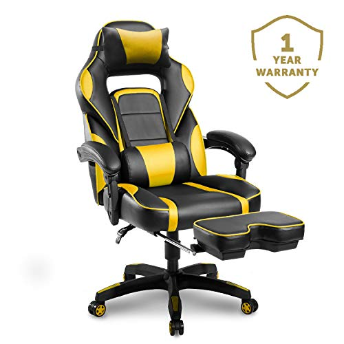 - Merax Racing Gaming Chair with Footrest | Ergonomic Office Reclining Chair for Computer Gamers PC Racer, High Back Large Home Desk Chairs Executive with Adjustable Armrest and Comfortable Seat Adults