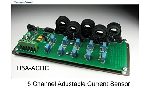 5 Way Multiple Channels C/T - AC/DC Current Sensor Hall Effect Transducer for Industrial Testing / data logging / R&D / Solar / Wind Power