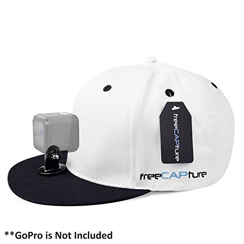 Hat Compatible Removable GoPro Camera Head Mount - Hero Action Camcorder HD Edition – Go Pro 4 Silver, 3 + Black, 2 White, 1- Helmet Accessory Strap Caps Harness Studio Accessories