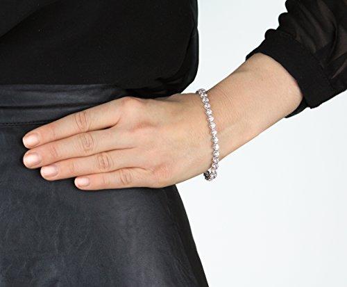 Myia Passiello Bracelet Plaqué Platine Ronde Zircon cubique Transparent Femme