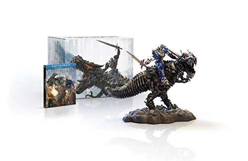 Limited Edition Statue Figure - Transformers: Age of Extinction Limited Edition Gift Set with Grimlock and Optimus Collectible Statue [Blu-ray]