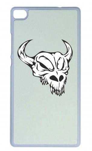 """Smartphone Case Apple IPhone 5C """"Bullenschädel Bullenreiten mit Hörnern Skelett Rocker Motorradclub Gothic Biker Skull Emo Old School"""" Spass- Kult- Motiv Geschenkidee Ostern Weihnachten"""