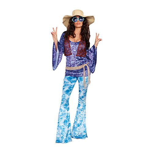 Dreamgirl Women's Wild At Woodstock Costume, Multi, Small