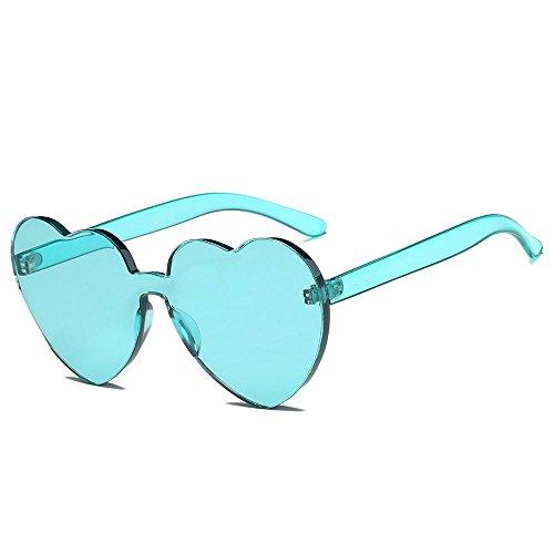 de En Moda Logobeing Las Verde Color Gafas Integrado de Uv Forma de Mujeres Corazón Gafas Sol Caramelo De 88qfB5gw