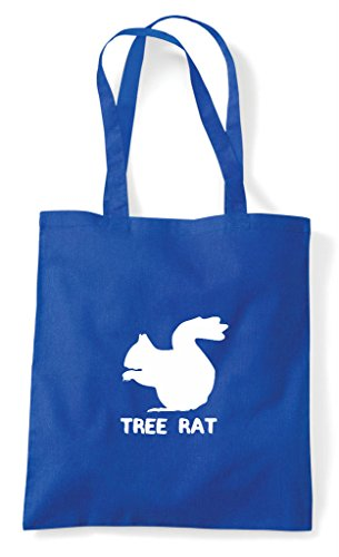Shopper Blue Squirrel Cute Tree Royal Tote Rat Bag Names Animal Themed Alternative Funny qaRvwOx