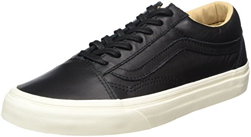 Vans Unisex-Erwachsene Old Skool Leather Sneaker Schwarz (Lux Leather/ Black/porcini)